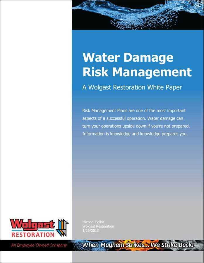 WR Water Damage Risk Management Cover